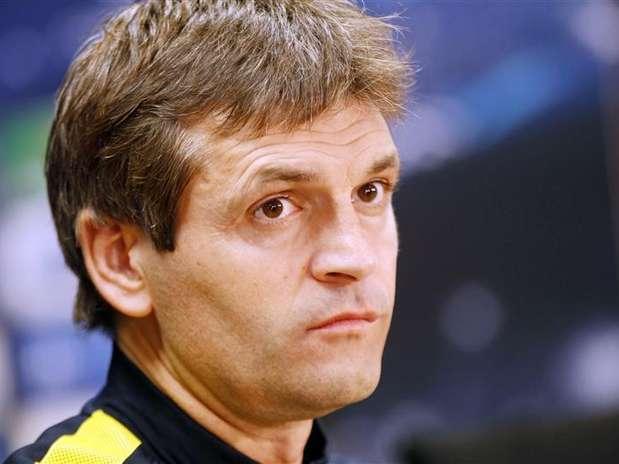 Tito Vilanova pode voltar a dirigir equipe em janeiro Foto: Gustau Nacarino / Reuters