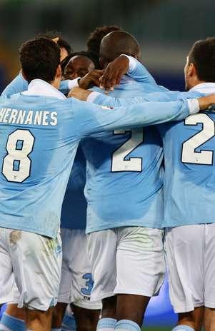 Lazio conseguiu empate no último lance do tempo normal, e fez 4 a 1 nos pênaltis sobre o Siena Foto: Getty Images