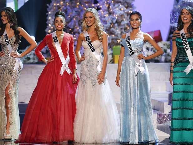 Gabriela Markus, do Brasil, foi a quinta colocada e disputou a final com as Misses Estados Unidos, Austrália, Filipinas e Venezuela Foto: Divulgação