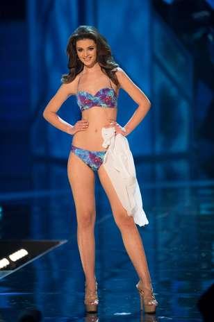 A Miss Croácia, Elizabeta Brug durante o desfile de biquíni no Miss Universo 2012, nesta quinta-feira (19) Foto: Divulgação