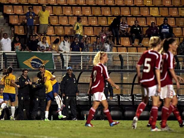 Brasil sofreu, mas garantiu título em SP após empate com a Dinamarca nesta quarta Foto: Fernando Pilatos / Divulgação