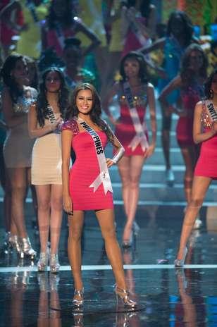 Janine Tugonon, Miss Filipinas, foi uma das 16 selecionadas para o desfile de trajes de banho. O Miss Universo 2012 foi realizado no Planet Hollywood Resort e Casino, em Las Vegas, Estados Unidos, nesta quinta-feira (19) Foto: Divulgação