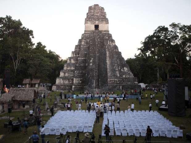 Guatemala -A pirâmide do Grande Jaguar é vista um dia após a celebração do festival do fim de ciclo Oxlajuj Baktun, nas ruínas de Tikal Mayan, em Petén  Foto: Reuters
