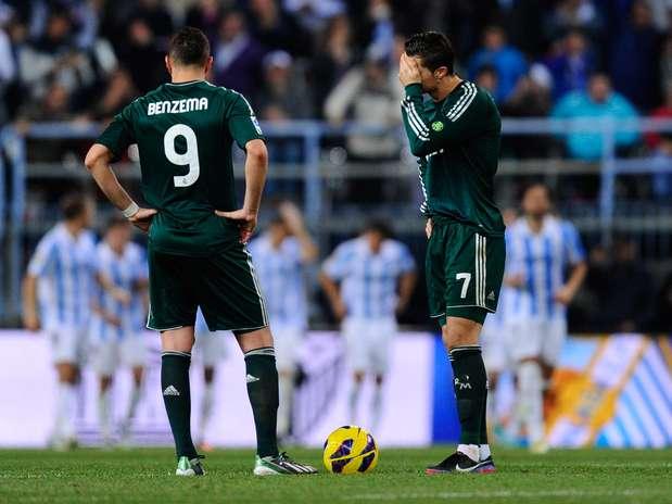 Real Madrid perdeu de novo e acumulou terceiro resultado negativo na sequência Foto: Getty Images