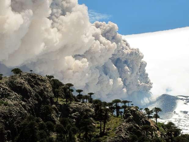 A última vez que o vulcão entrou em erupção foi no ano 2000 em uma atividade que se prolongou entre julho e outubro desse ano Foto: AFP