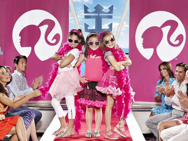 O sonho de ser modelo também poderá ser realizado no navio em um desfile de moda para as crianças que embarcarem nessa aventura  Foto: Royal Caribbean International / Divulgação