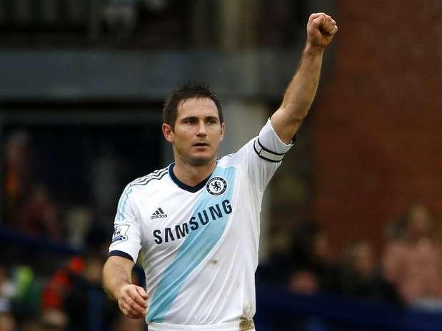 Frank Lampard fez os dois gols do Chelsea contra o Everton Foto: Reuters