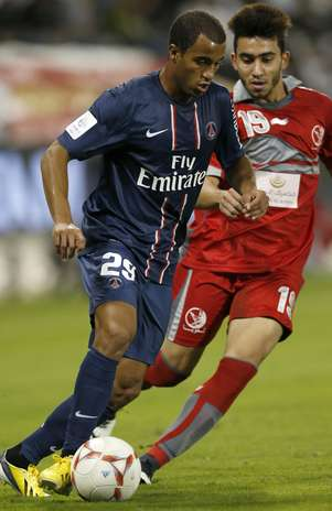 Lucas atuou por todo o segundo tempo e quase fez um golaço Foto: Reuters