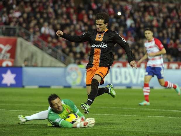 Jonas deixou o seu gol em vitória do Valencia Foto: EFE