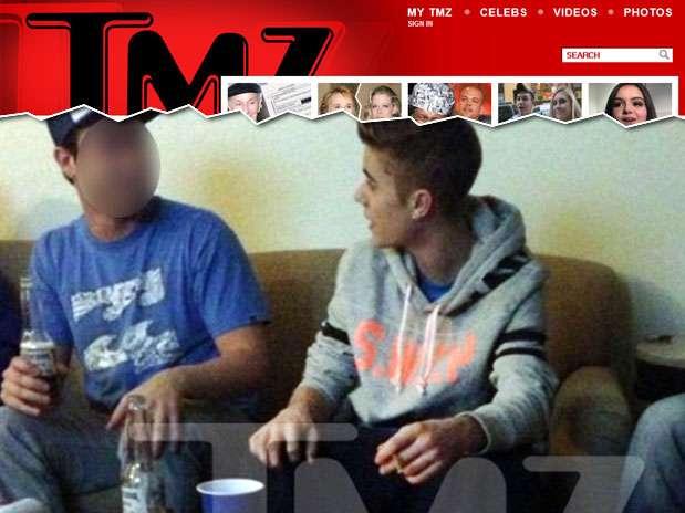 As fotos registradas festas pertencem ao cantor, afirmou a equipe de Bieber Foto: TMZ / Reprodução