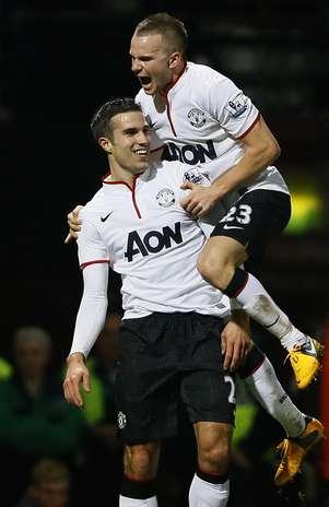 Van Persie evitou a derrota do Manchester United Foto: AP