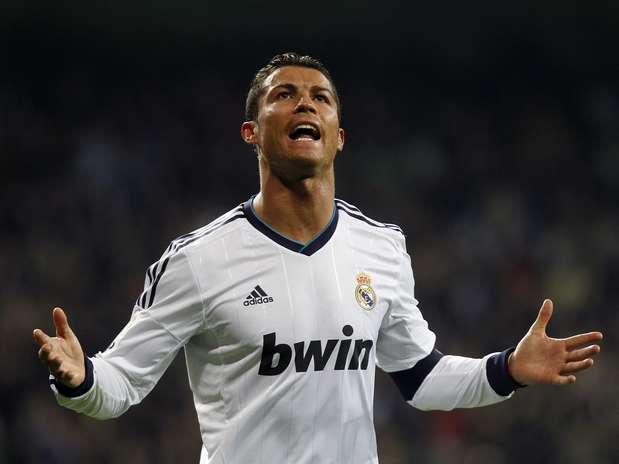 Cristiano Ronaldo marcou dois gols na vitória por 4 a 3 do Real Madrid sobre a Real Sociedad Foto: AP