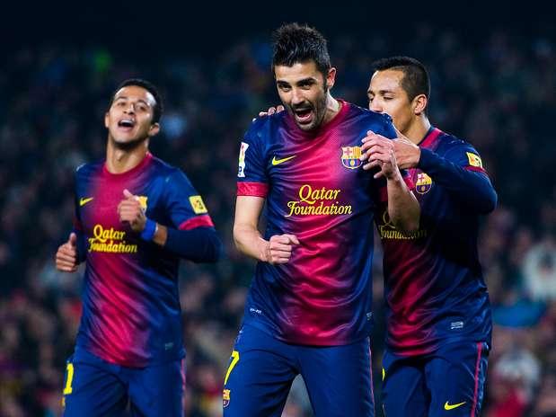 Villa marcou duas vezes, e Barcelona fez 5 no Córdoba Foto: Getty Images