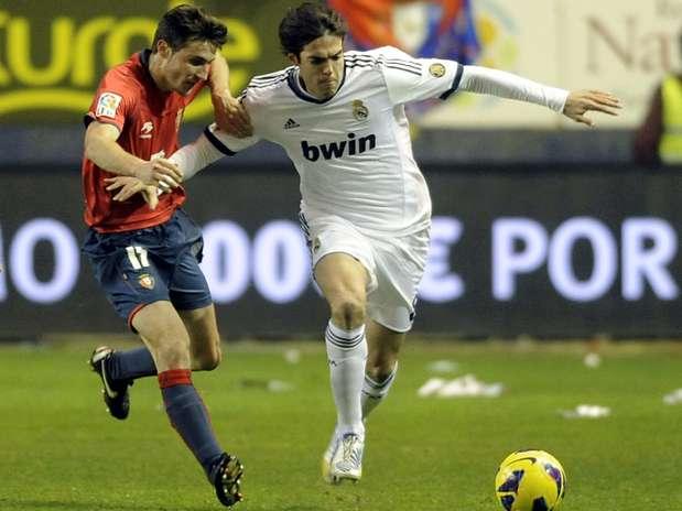 Kaká entrou no segundo tempo e foi expulso pouco depois Foto: AFP