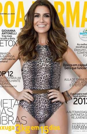 Giovanna Antonelli é capa da revista 'Boa Forma' de janeiro Foto: Divulgação
