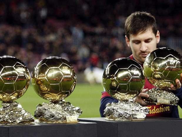 Quatro vezes melhor do mundo, Messi ainda marcou no Camp Nou Foto: EFE