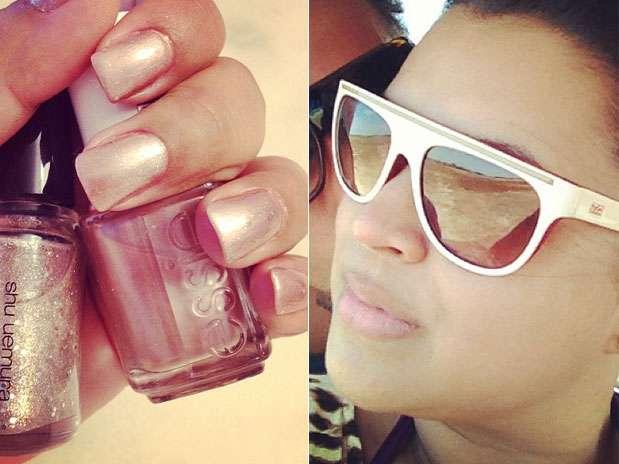 """Preta Gil investiu em uma combinação de esmaltes para as mães. \""""Quandto mais purpurina, melhor\"""", escreveu a cantora  Foto: Instagram / Divulgação"""