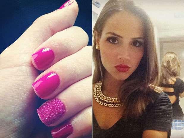 Pérola Faria apostou na tendência de unhas caviar  Foto: Instagram / Divulgação