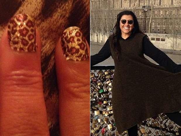 Regina Casé apostou em esmalte de oncinha para as mãos  Foto: Instagram / Divulgação