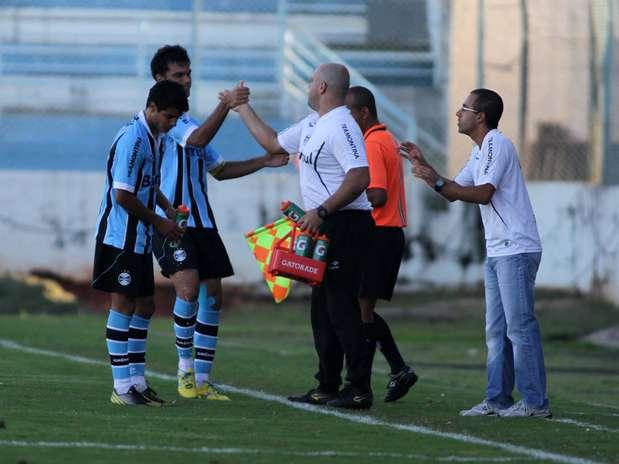 Time gaúcho despachou o Atlético-MG nas oitavas; na fase anterior, bateu o Coritiba também nos pênaltis Foto: José Luís Silva / Futura Press