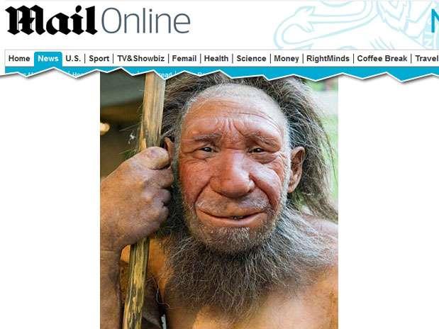 Modelo mostra como seria a espécie extinta há mais de 33 mil anos Foto: Reprodução/Daily Mail