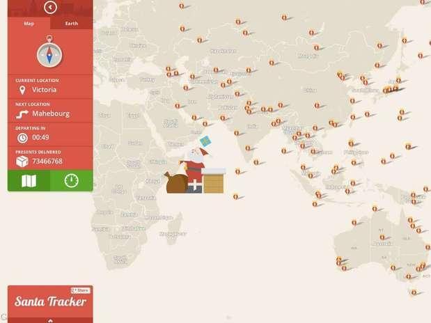 Na véspera de Natal, usuários poderão rastrear viagem do Papai Noel pelo Google Maps Foto: Divulgação