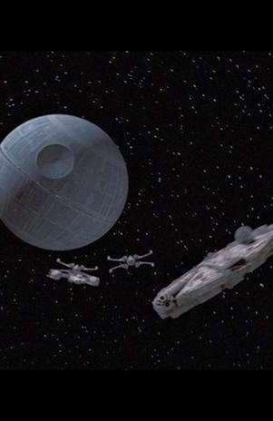 """A \""""Estrela da Morte\"""" em imagem do filme 'Uma Nova Esperança' (1977), primeiro filme da série \""""Star Wars\"""" Foto: StarWars.com / Reprodução"""