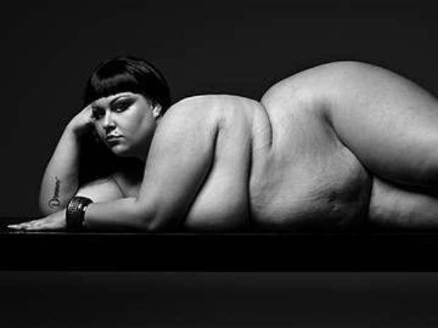 Projeto chamado de FullBeauty traz fotos sensuais de mulheres que pesam entre 190 e 270 kg Foto: Divulgação