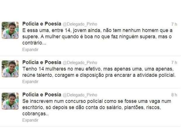 O delegado Pedro Paulo Pontes Pinho, da 9º DP (Catete), no Rio de Janeiro, publicou nesta segunda-feira em seu perfil no Twitter uma série de críticas a funcionários da Polícia Civil do Rio de Janeiro Foto: Twitter / Reprodução