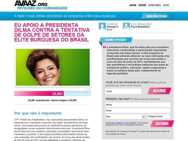 Foto: Avaaz/Reprodução