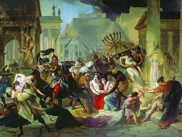 Foto: O rei vândalo Genserico submete Roma ao  saque (455)/Reprodução