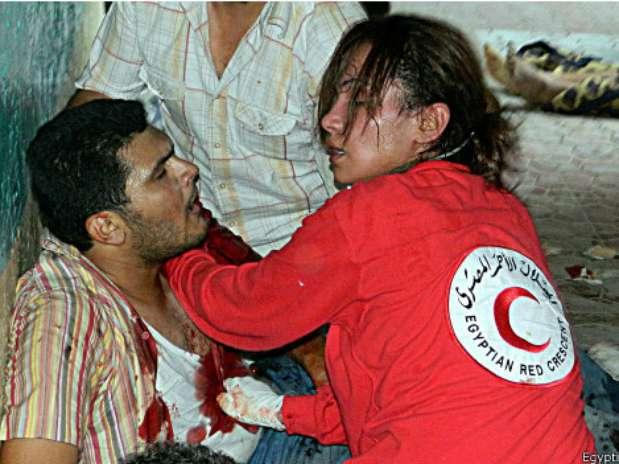 Foto: Crescente Vermelho do  Egito/BBCBrasil.com