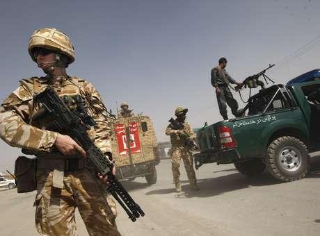 Soldados britânicos em operação no Afeganistão (foto de 2009) Foto: AP