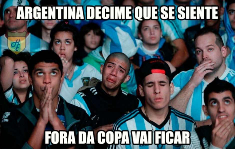 Risco da Argentina ficar fora da Copa do Mundo rende memes Foto: Reprodução / Humor Esportivo