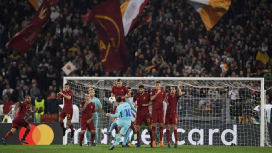 Roma x Barcelona Foto: AFP / LANCE!
