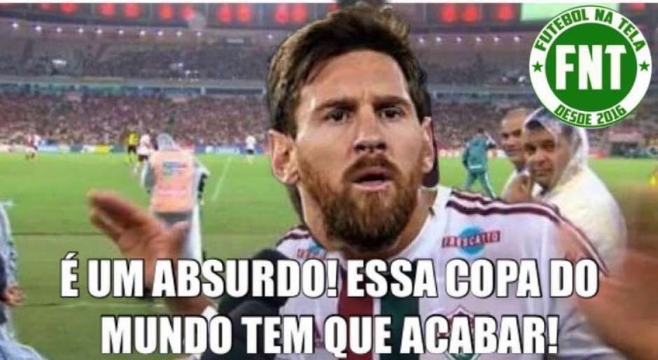 Humor na Copa: os memes de Croácia 3-0 Argentina Foto: Reprodução / Humor Esportivo