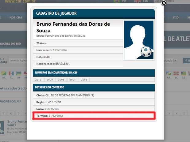 Contrato do goleiro Bruno com o Flamengo se encerra nesta 2ª